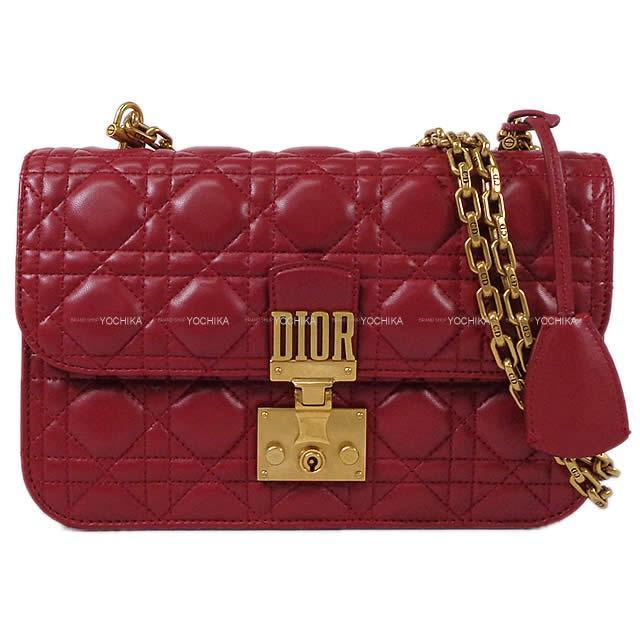 Christian Dior カナージュ ディオールアディクト チェーンショルダーバッグ アディクトレッド  新品未使用