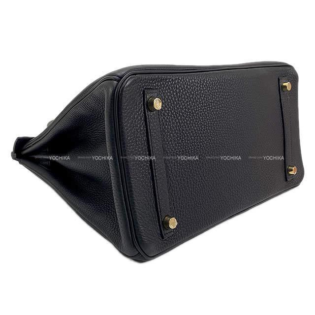 HERMES エルメス ハンドバッグ バーキン30 黒(ブラック) トゴ シルバー金具 新品同様【中古】