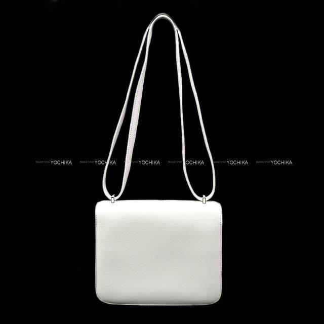 HERMES エルメス ショルダーバッグ コンスタンス 3 ミニ 18 白(ホワイト) ラッカーホワイト金具 スイフト