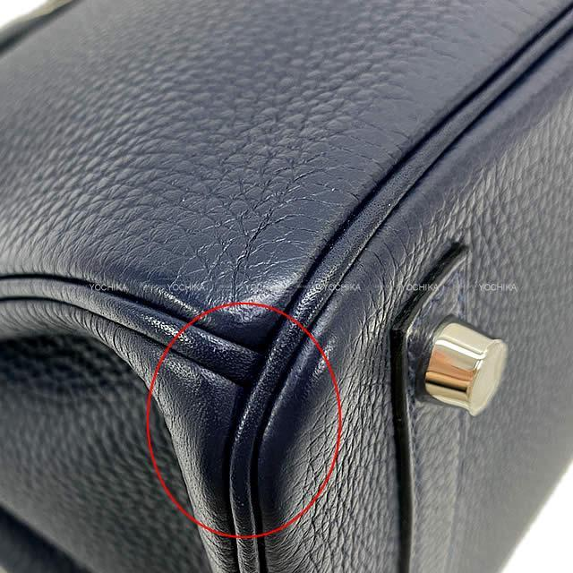 HERMES エルメス ハンドバッグ バーキン30 ヴェルソ ブルーニュイXローズパープル トリヨン シルバー金具 新品未使用