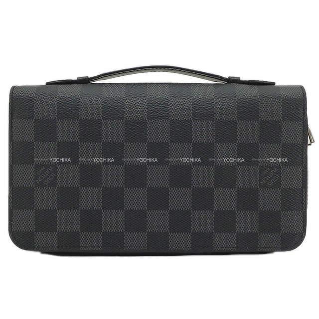 """ルイ・ヴィトン """"ジッピー XL"""" ラウンドファスナー セカンドバッグ 財布 ダミエ グラフィット N41503 新品"""