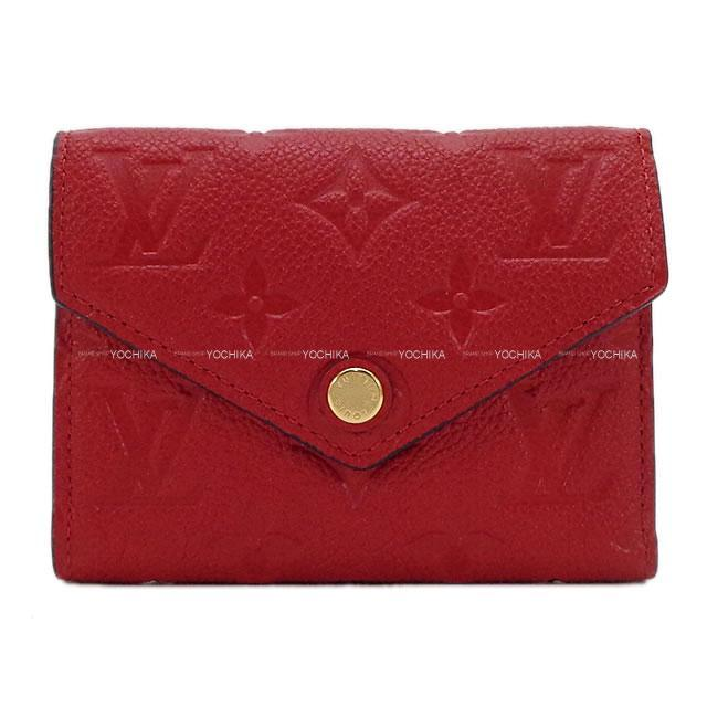 LOUIS VUITTON ルイ・ヴィトン コンパクト 財布 ポルトフォイユ・ヴィクトリーヌ スカーレット M63701 新品