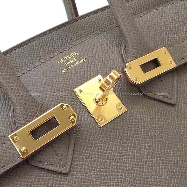 HERMES エルメス ハンドバッグ バーキン25 セリエ 外縫い エタン エプソン ゴールド金具 新品
