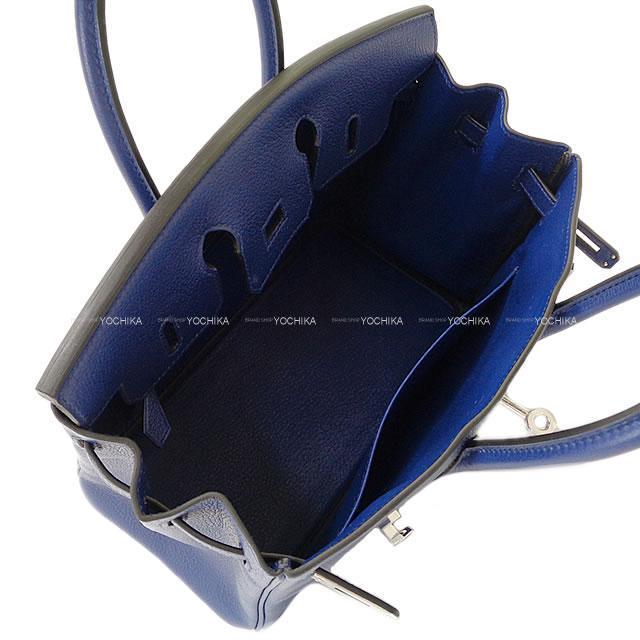 HERMES エルメス ハンドバッグ バーキン25 ブルーサフィール(ブルーサファイア) トリヨンノヴィーヨ シルバー金具 新品