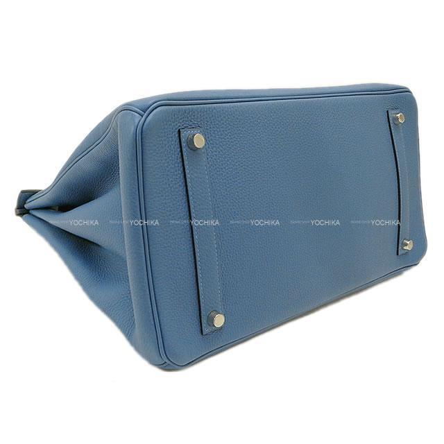 HERMES エルメス ハンドバッグ バーキン35 ブルーアズール トゴ シルバー金具 新品
