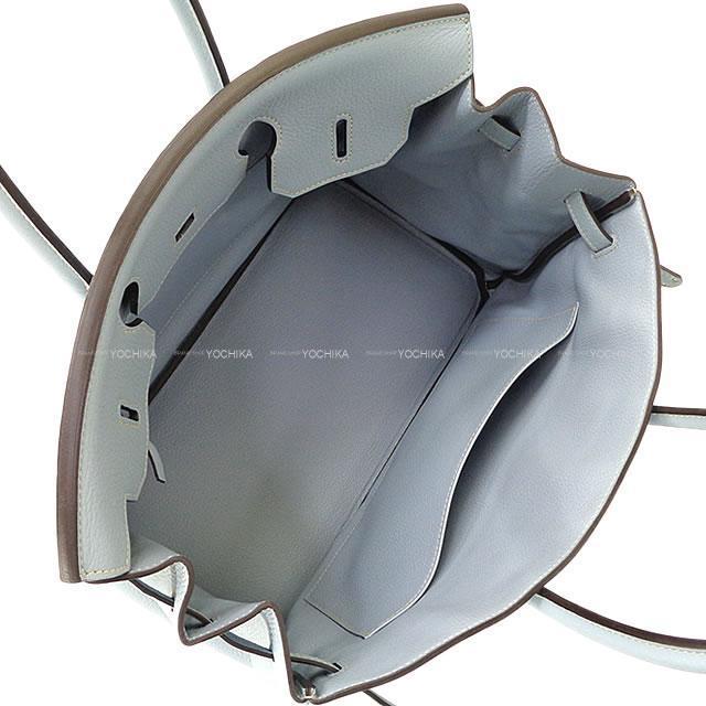 HERMES エルメス ハンドバッグ バーキン35 ブルーリン トリヨンクレマンス シルバー金具 新品未使用