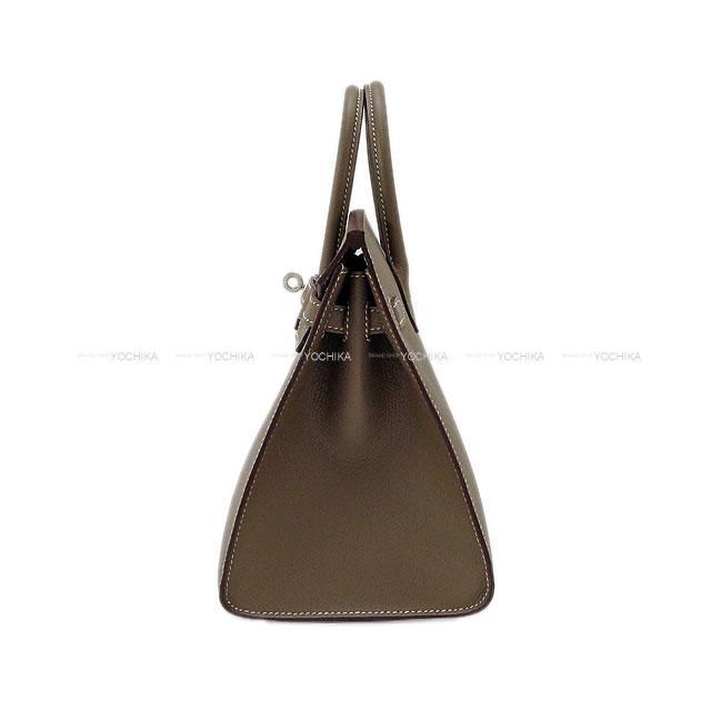 HERMES エルメス ハンドバッグ バーキン25 セリエ 外縫い エトープ (エトゥープ) エプソン シルバー金具 新品