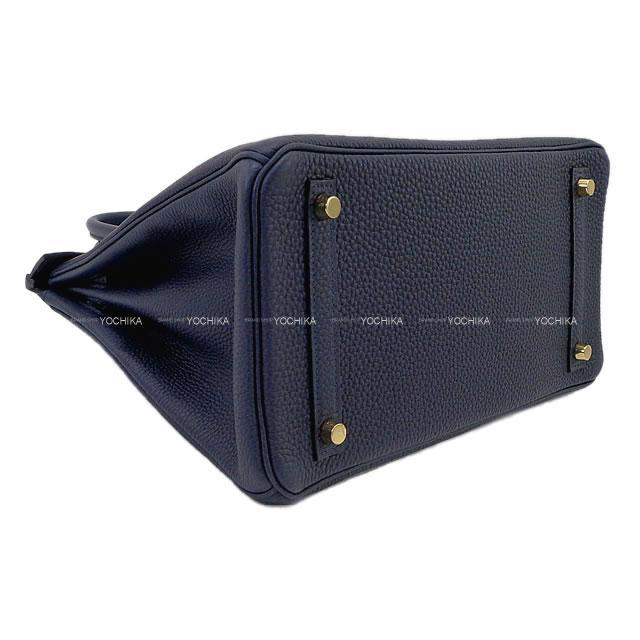 HERMES エルメス ハンドバッグ バーキン30 ブルーニュイ トゴ ゴールド金具 新品