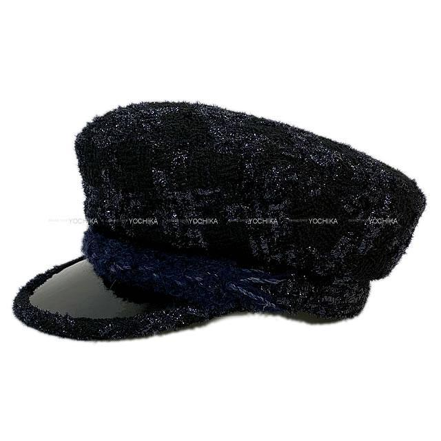 CHANEL シャネル パリ ハンブルグ ココマーク キャスケット 帽子 #M 黒 ウール A76376 新品未使用