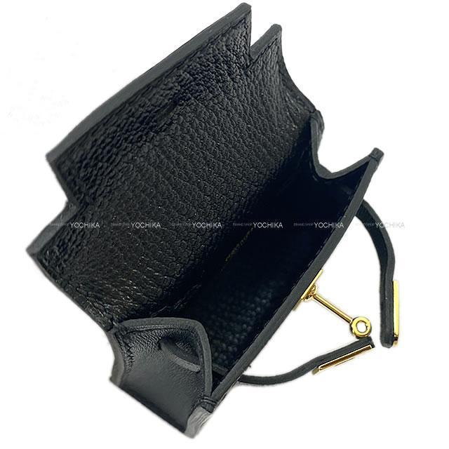 HERMES エルメス ミニミニ バッグチャーム ケリー トゥイリー(ツイリー) 黒(ブラック) タデラクト ゴールド金具 新品