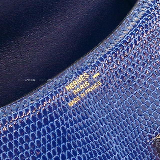 HERMES エルメス ショルダーバッグ マイクロ コンスタンス ミニミニ ブルーサフィール リザード ゴールド金具 新品