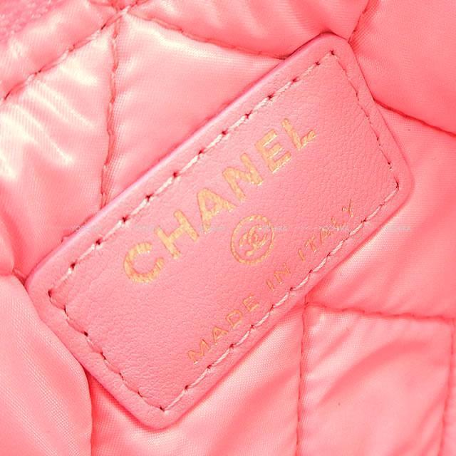 CHANEL シャネル カジノ ラッキーチャーム クローバー マトラッセ ポーチ A82417 ピンク 新品未使用