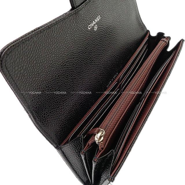 CHANEL シャネル マトラッセ フラップ 長財布 黒(ブラック) グレインドカーフ シルバー金具 A80758 新品