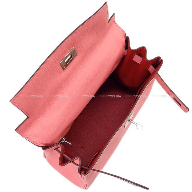 エルメス ハンドバッグ ケリー28 内縫い ヴェルソ ローズエテ/ルージュエキゾチック エバーカラー 新品