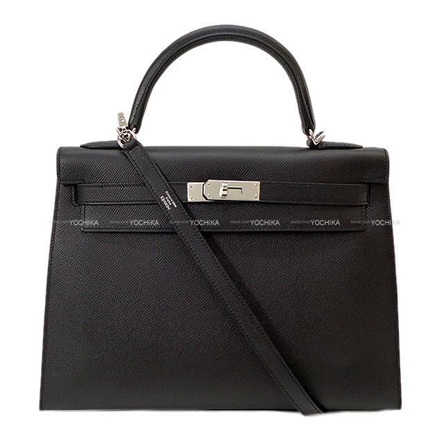 HERMES エルメス ハンドバッグ ケリー32 内縫い 黒(ブラック) エプソン シルバー金具 新品