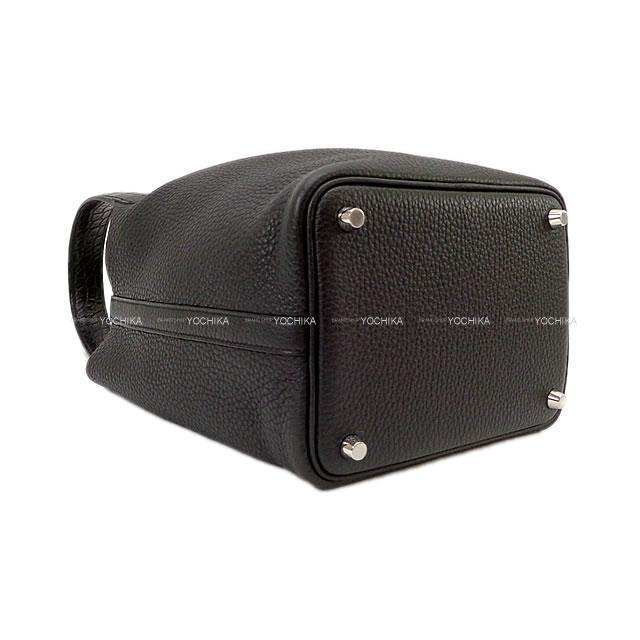 HERMES エルメス ハンドバッグ ピコタンロック タッチ 18 PM 黒(ブラック) トリヨン/アリゲーターマット