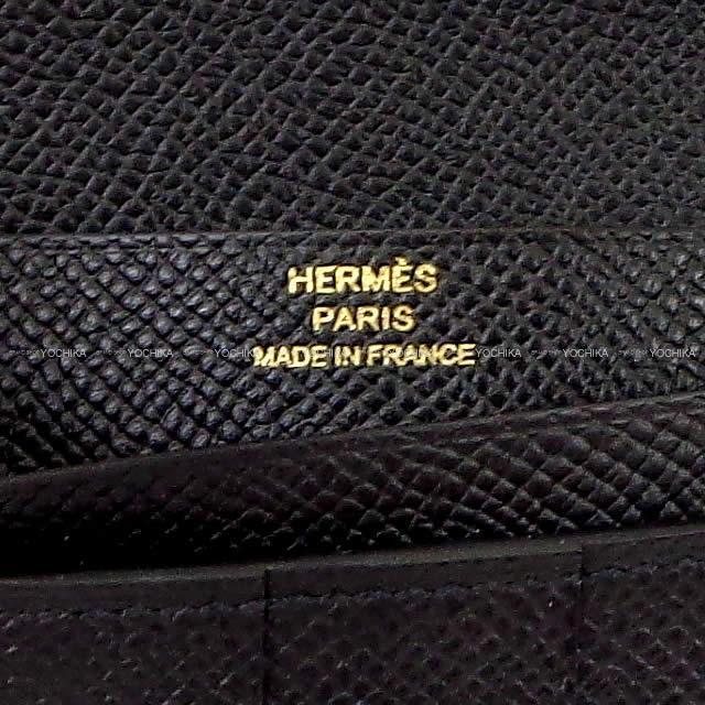 HERMES エルメス 長財布 ベアンスフレ 黒(ブラック) エプソン ゴールド金具 C刻印 新品