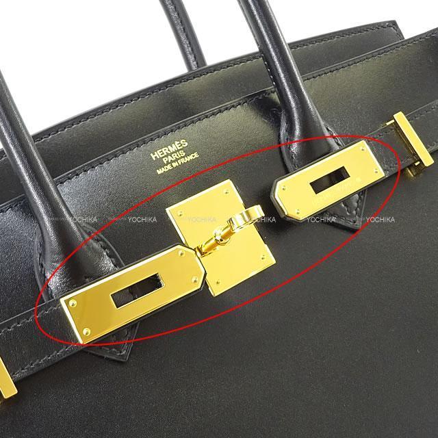 HERMES エルメス ハンドバッグ バーキン30 黒(ブラック) ボックスカーフ ゴールド金具 展示新品
