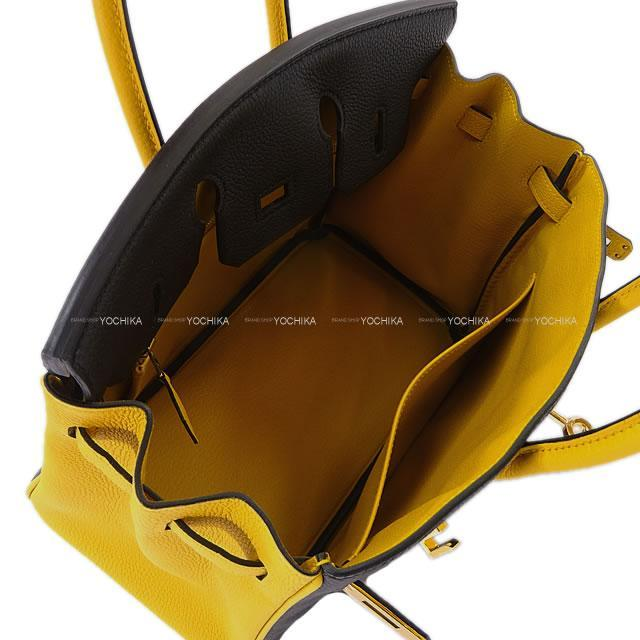 HERMES エルメス バーキン25 スペシャルオーダー 黒(ブラック)/ジョーヌアンブル トゴ ゴールド金具 新品