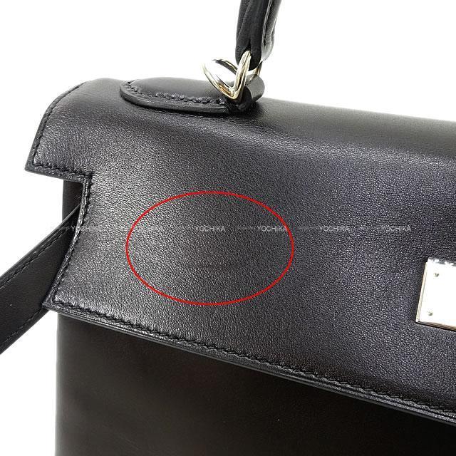 HERMES エルメス ハンドバッグ ケリー32 内縫い 黒(ブラック) ヴォームッシュ― シルバー金具 新品