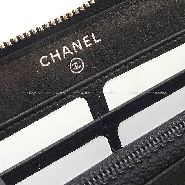 シャネル マトラッセ ココマーク ラウンドジップ 長財布 黒 キャビアスキン ブラック金具 AP1411 新品