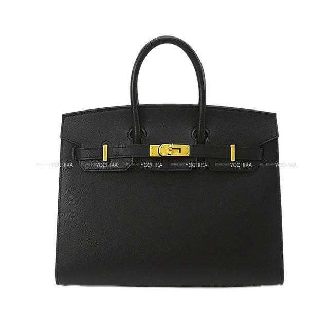 HERMES エルメス ハンドバッグ バーキン25 セリエ 外縫い 黒(ブラック) ヴォーマダム ゴールド金具 新品