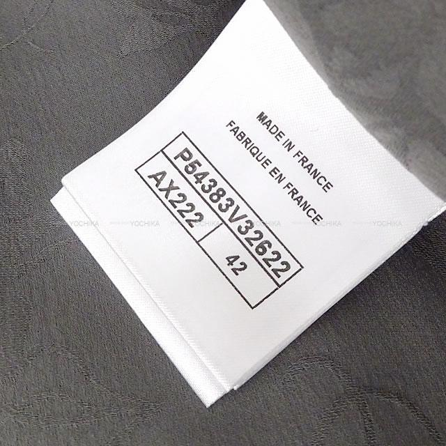 CHANEL シャネル 袖 カメリア レース フリル ノーカラー ジップ ロング コート 新品同様【中古】