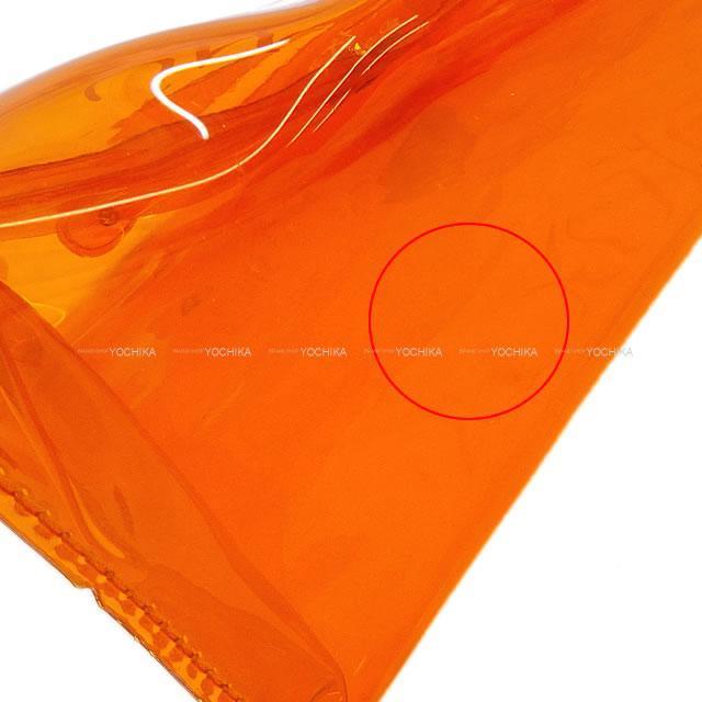 HERMES エルメス ハンドバッグ ビニール ケリー オレンジ PVC ゴールド金具 新品同様【中古】