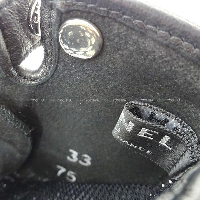 CHANEL シャネル カメリア レースフラワー ココマーク グローブ フィンガーレス 手袋 黒 #7.5 新品同様【中古】
