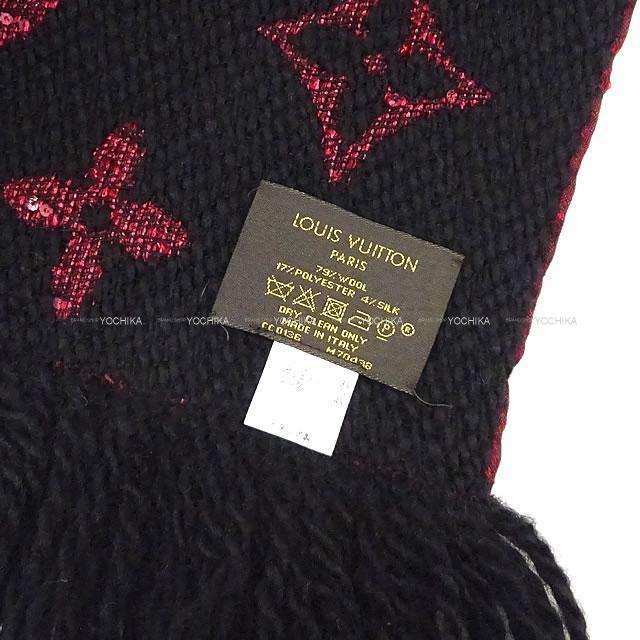 LOUIS VUITTON ルイ・ヴィトン マフラー エシャルプ ロゴマニア プレシャズ ボルドー/黒 M70438 新品