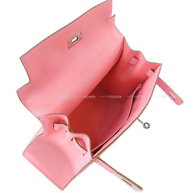 HERMES エルメス ハンドバッグ ケリー28 外縫い ローズコンフェッティ エプソン シルバー金具 新品未使用