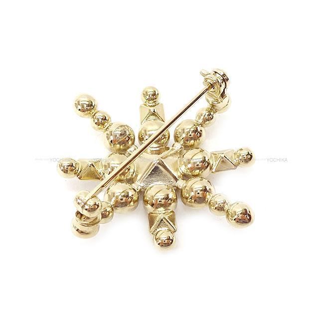 CHANEL シャネル ラインストーン&パール ストラス ココ 結晶 ブローチ B19B 黒/ゴールド ゴールド金具 新品未使用