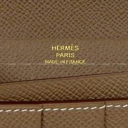 エルメス 長財布 ベアンスフレ エトープ(エトゥープ) エプソン ゴールド金具 C刻印 新品未使用