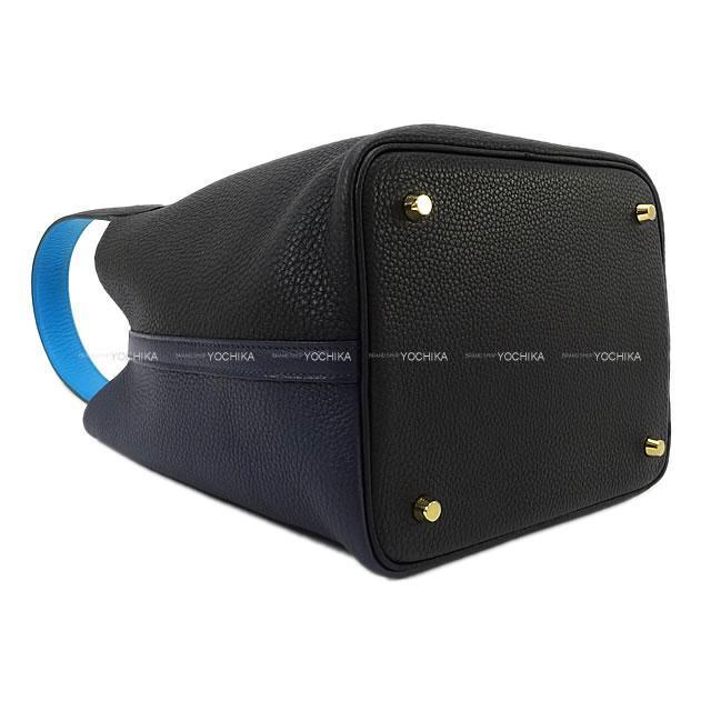 エルメス ハンドバッグ ピコタンロック カザック2 18 PM 黒XブルーニュイXブルーザンジバル  新品