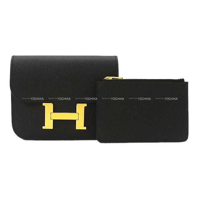 HERMES エルメス 財布 コンスタンススリム ウォレット ウェストポーチ 黒(ブラック) エプソン ゴールド金具 新品