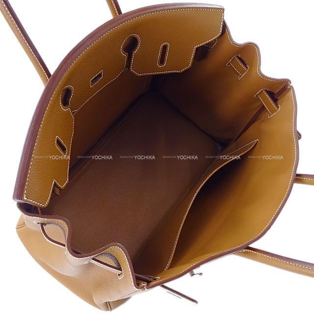 HERMES エルメス ハンドバッグ バーキン35 ゴールド トゴ シルバー金具 SAランク【中古】