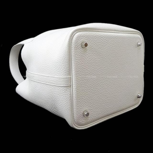 エルメス ハンドバッグ ピコタンロック 22 MM 白 トリヨン (内側起毛) 新品同様【中古】