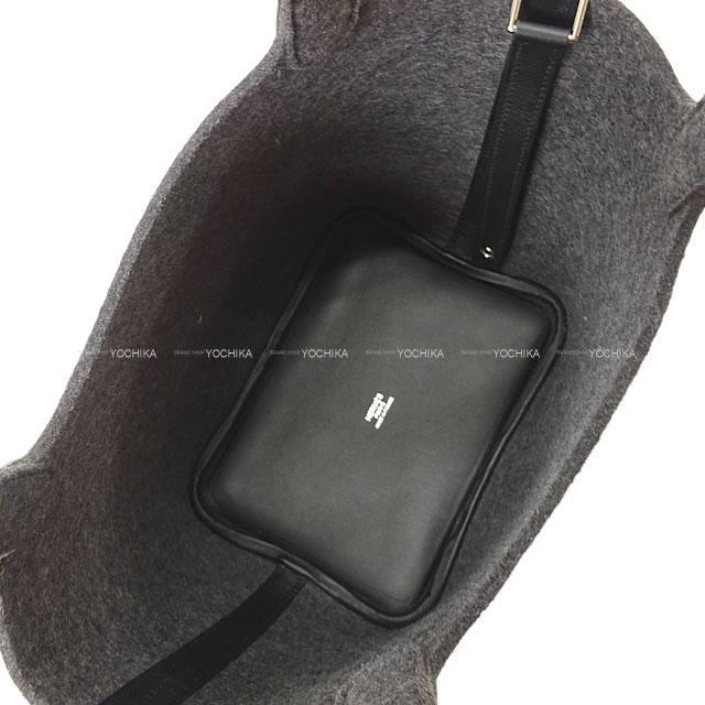 2020年 秋冬 エルメス ハンドバッグ ピコタンロック 18 PM グリモワイヤン/黒 フェルト/スイフト 新品