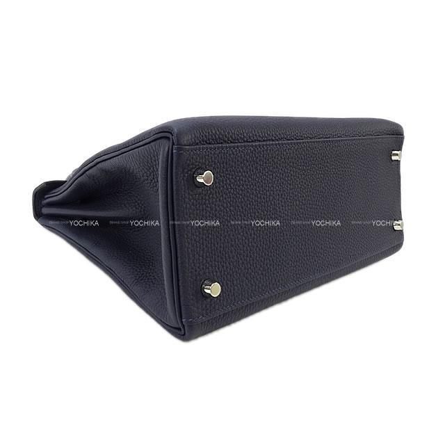 HERMES エルメス ハンドバッグ ケリー28 内縫い タッチ ブルーニュイ トゴ/クロコダイル アリゲーターマット