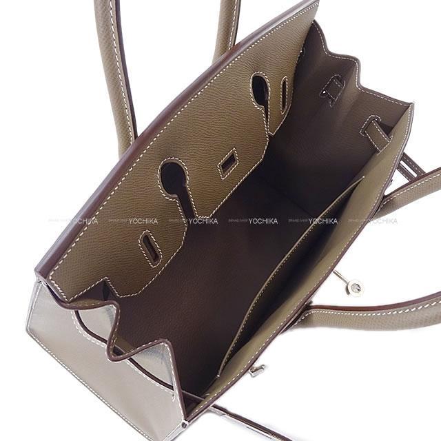 HERMES エルメス ハンドバッグ バーキン30 セリエ 外縫い エトープ(エトゥープ) エプソン シルバー金具 新品