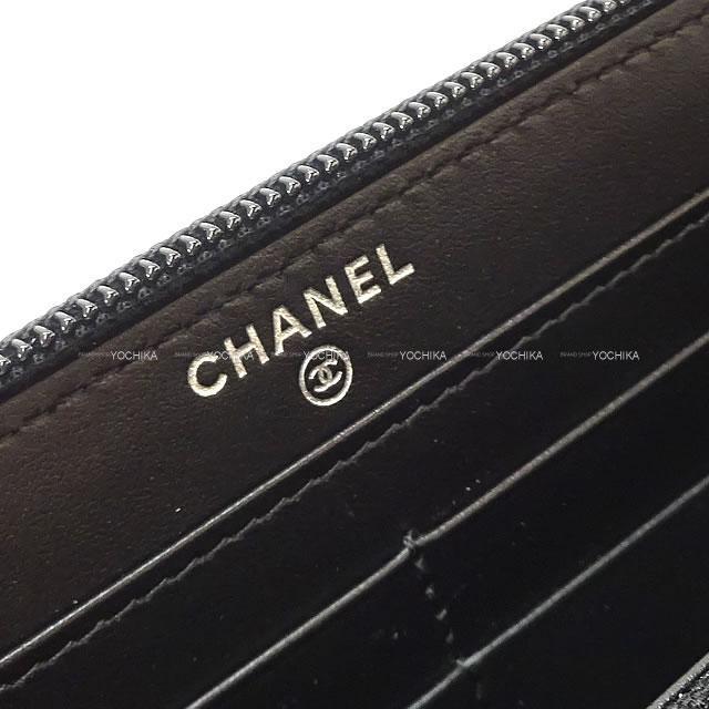 2020年 秋冬新作 CHANEL ボーイシャネル マトラッセ ラウンドファスナー 長財布 黒 A80288 新品