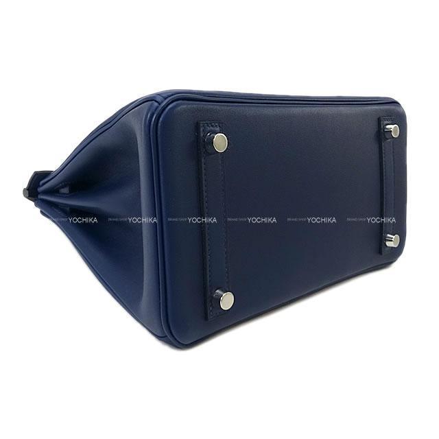 HERMES エルメス ハンドバッグ バーキン25 ブルーネイビー スイフト シルバー金具 新品