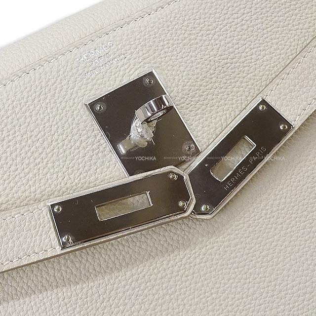 HERMES エルメス ハンドバッグ ケリー32 内縫い クレ トゴ シルバー金具 新品未使用