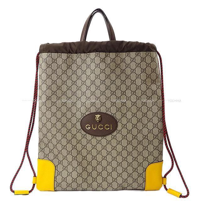 Gucci グッチ アングリーキャット ドローストリング バックパック トート バッグ 473872 新品同様