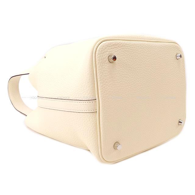 HERMES エルメス ハンドバッグ ピコタンロック 22 MM ナタ トリヨン シルバー金具 新品未使用