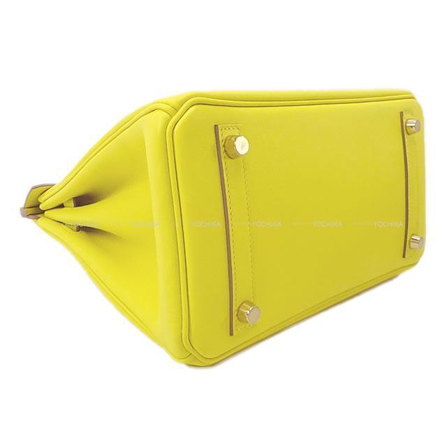 HERMES エルメス ハンドバッグ バーキン25 ライム スイフト ゴールド金具 新品