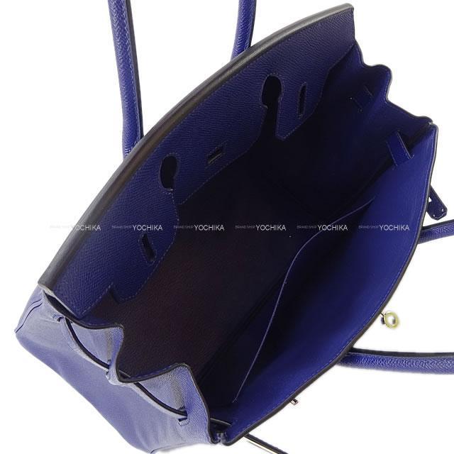 HERMES エルメス ハンドバッグ バーキン30 ブルーインク(ブルーアンクル) エプソン シルバー金具 新品