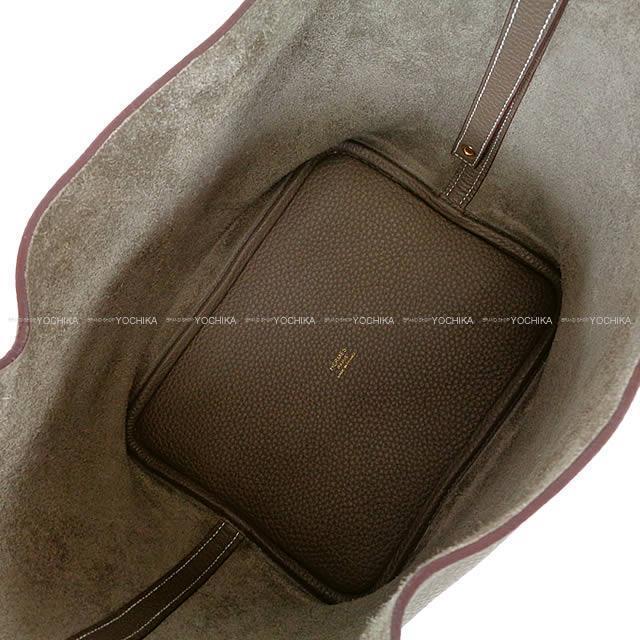 HERMES エルメス ハンドバッグ ピコタンロック 22 MM エトープ (エトゥープ) トリヨン ゴールド金具 展示新品