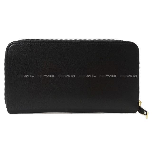 シャネル ココマーク ラウンドファスナー 長財布 黒 シープスキン A50071 展示新品