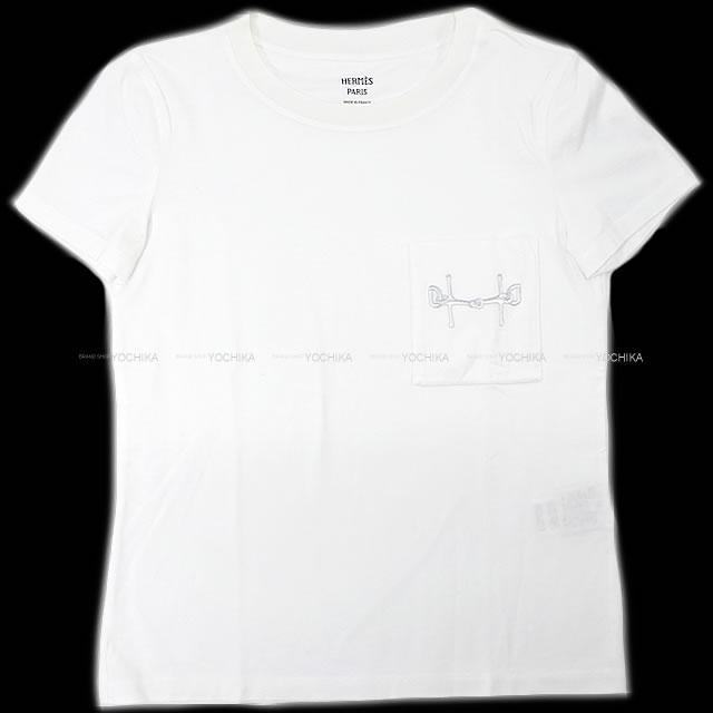 2020年 秋冬 新作 HERMES エルメス レディス Tシャツ ポケット付き 刺